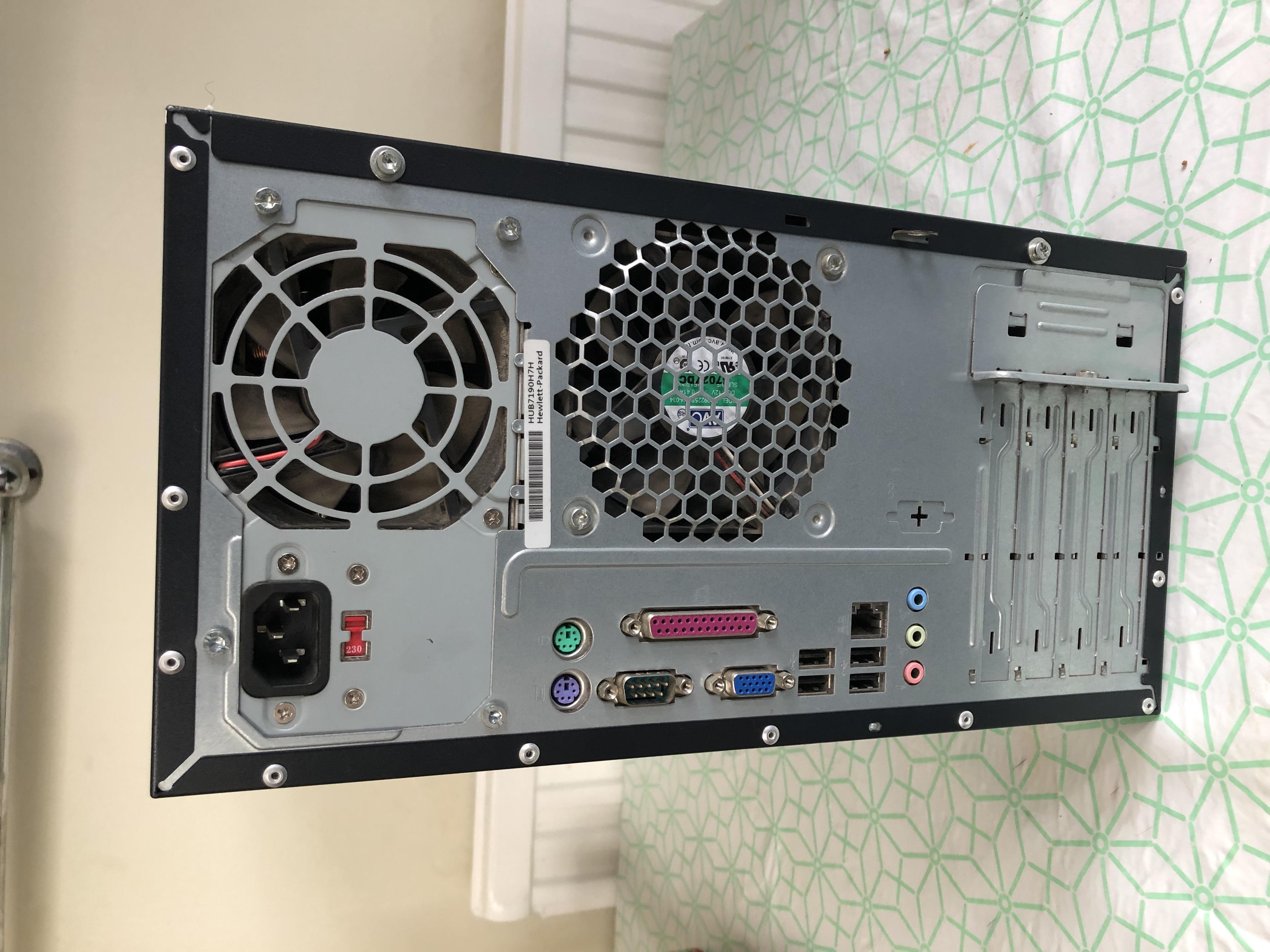 HP Compaq DX2300 Microtower, Black, Windows 10 Home
