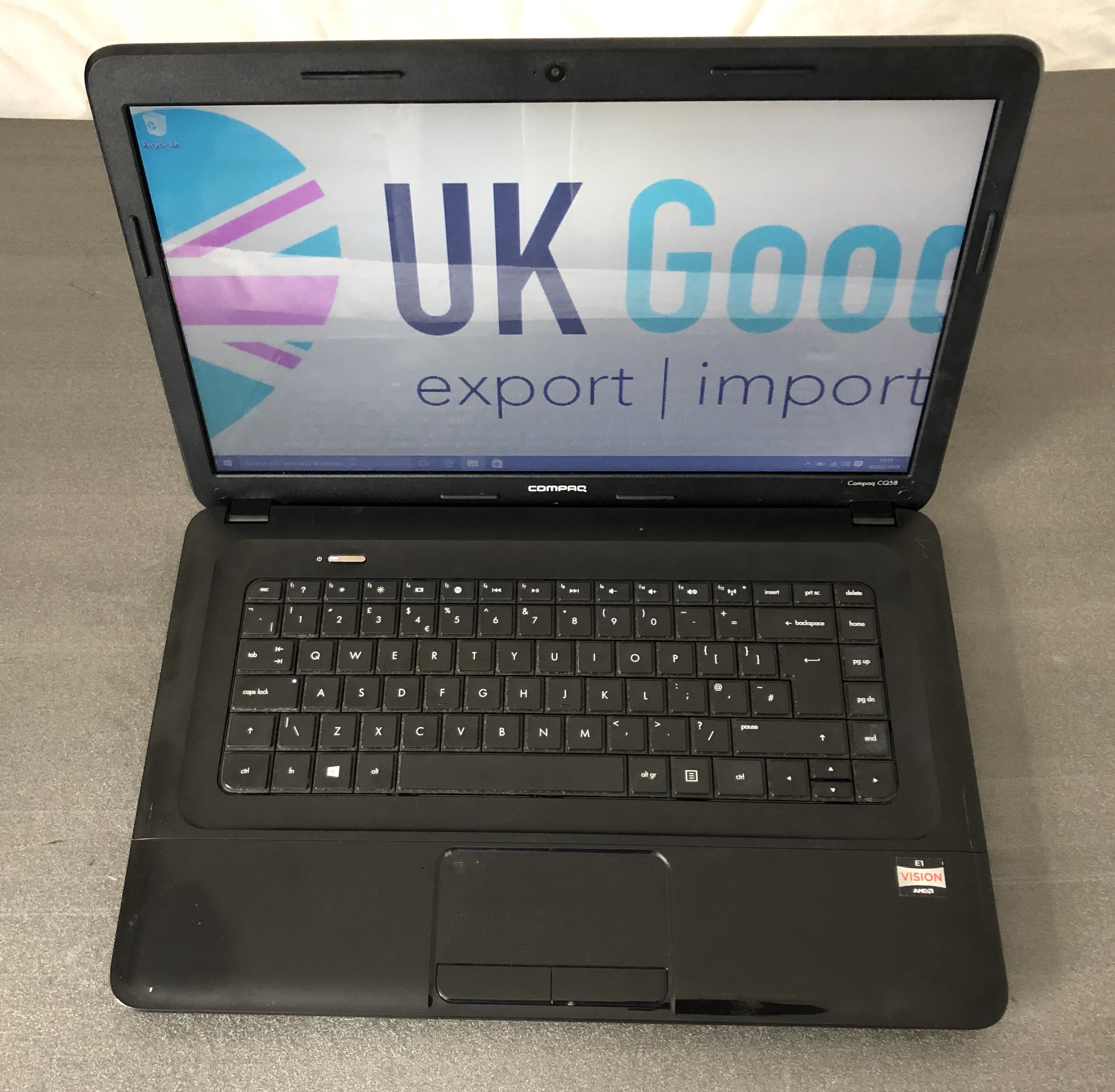 "Refurbished compaq cq58 Notebook AMD E1-1200 4GB 500GB 15.6"" Screen,Charger,Window 10,Web Cam"