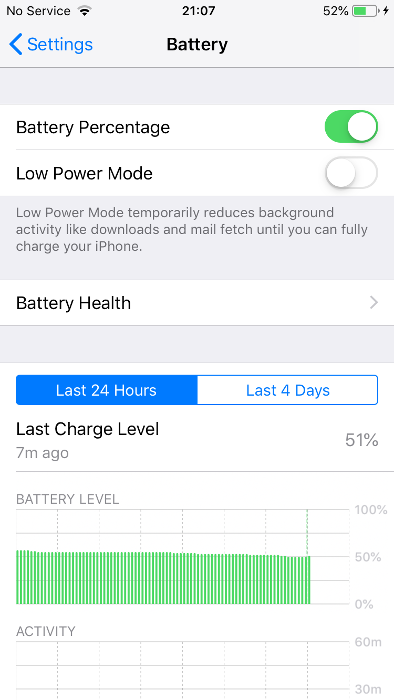 What means Battery health
