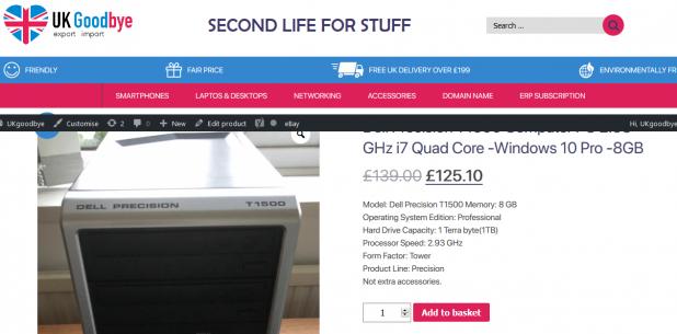 UKgoodbye is 10% cheaper than ebay