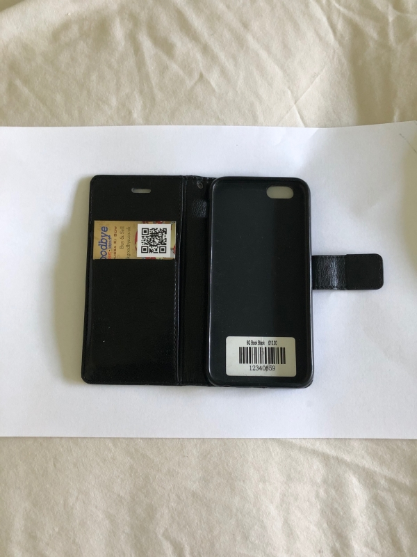 Genuine Leather Book Case iPhone 6/6S Black