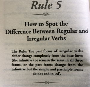 How to spot the difference between regular and irregular verbs