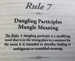 Dangling participles mangle meaning
