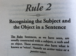 Recognizing the Subject and the Object in a Sentence