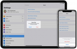 Apple reset or remove account from iPad or iPhone